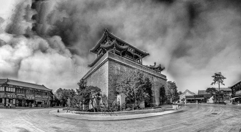 Bâtiment antique dans la vieille ville, Chine images stock