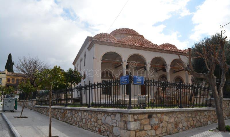 Bâtiment antique de musée à Athènes photos stock
