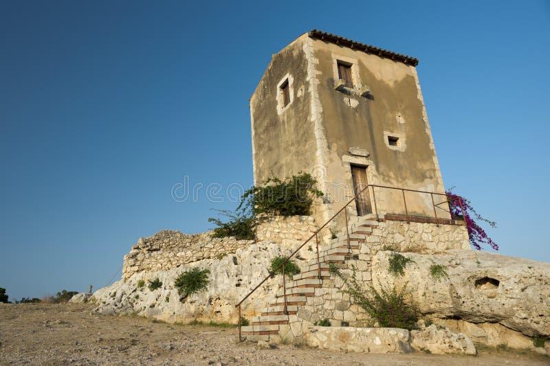 Bâtiment antique sicilien photographie stock