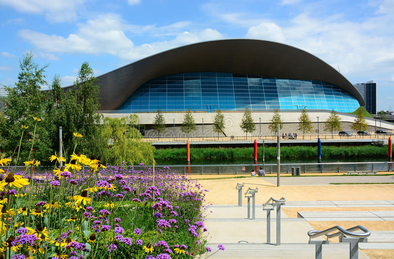 Bâtiment aquatique olympique de Londres photo stock