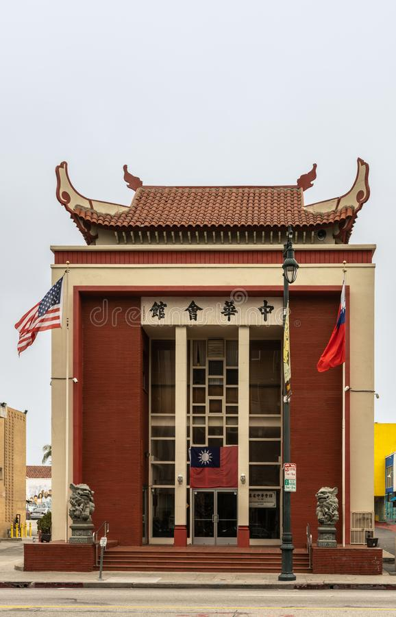 Bâtiment bienveillant d'association consolidé par Chinois, Chinatown images libres de droits