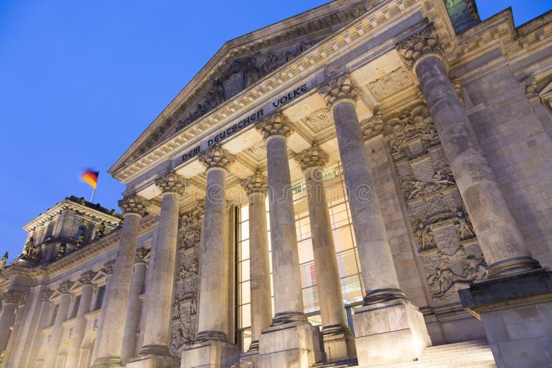 Bâtiment célèbre de Reichstag, siège du Parlement allemand, secteur de Berlin Mitte, Allemagne photographie stock