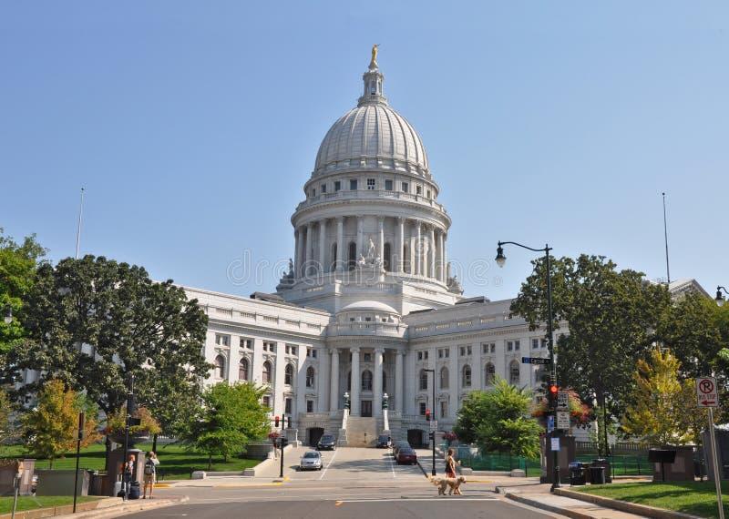 Bâtiment capital à Madison, le Wisconsin images libres de droits