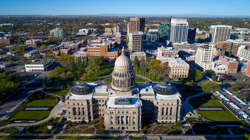 Bâtiment capital dans l'état d'horizon d'Idaho et de ville image libre de droits
