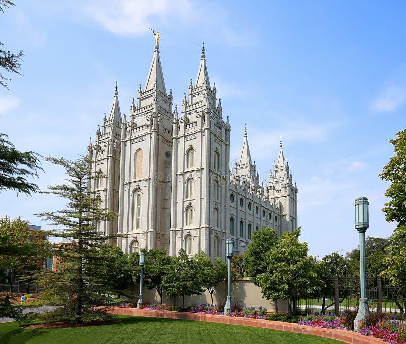 Bâtiment carré de temple à Salt Lake City images libres de droits