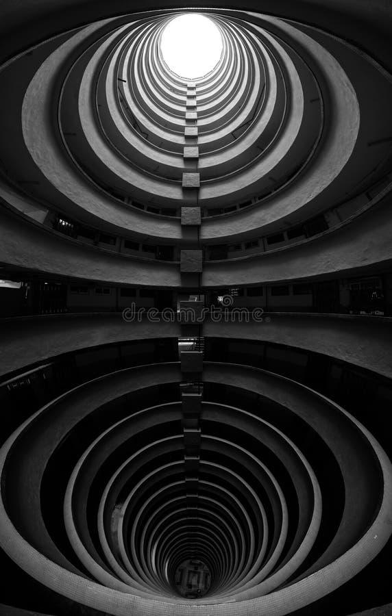 Bâtiment circulaire en Hong Kong, domaine de Lai Tak photos stock
