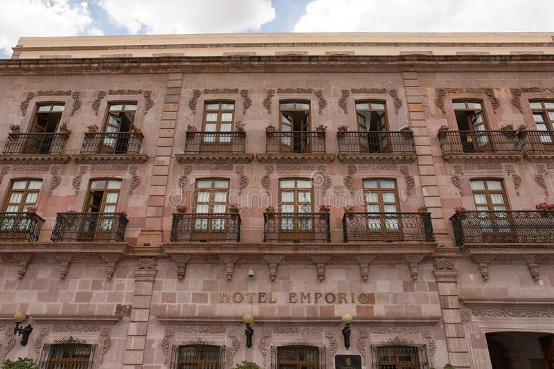 Bâtiment colonial dans Zacatecas Mexique photos libres de droits