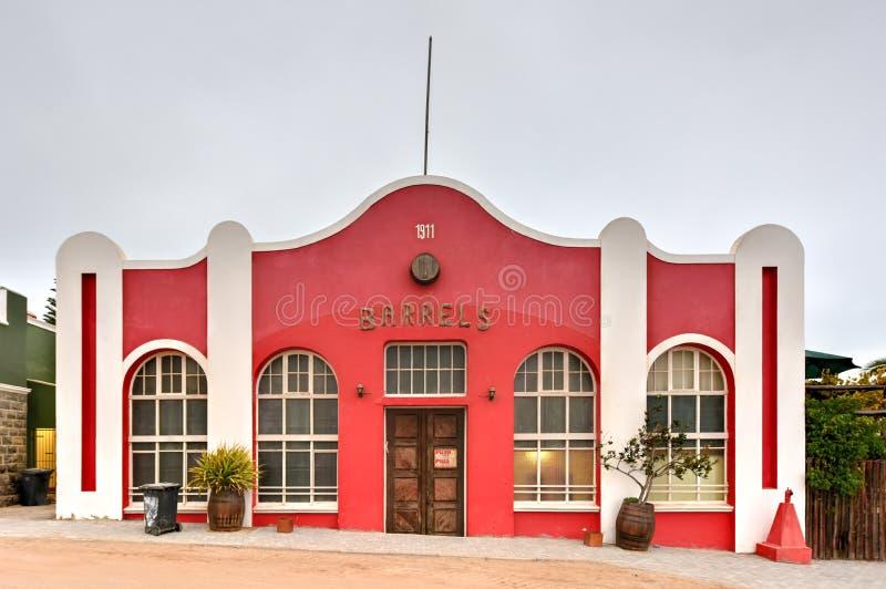 Bâtiment colonial de style allemand - Luderitz, Namibie photographie stock libre de droits