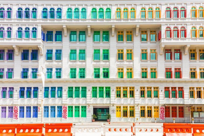 Bâtiment coloré du ministère de la culture, de la communauté et de la jeunesse dedans image stock