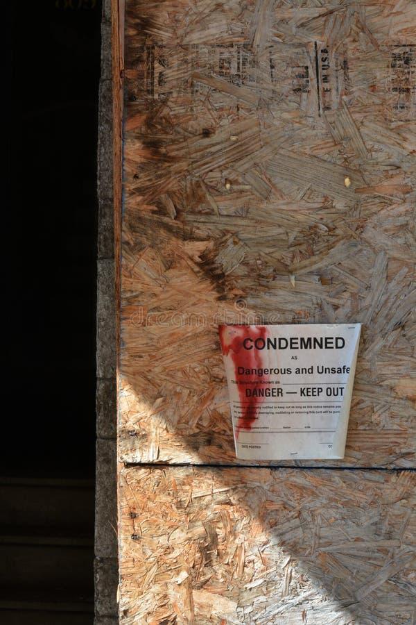 Bâtiment condamné photo libre de droits