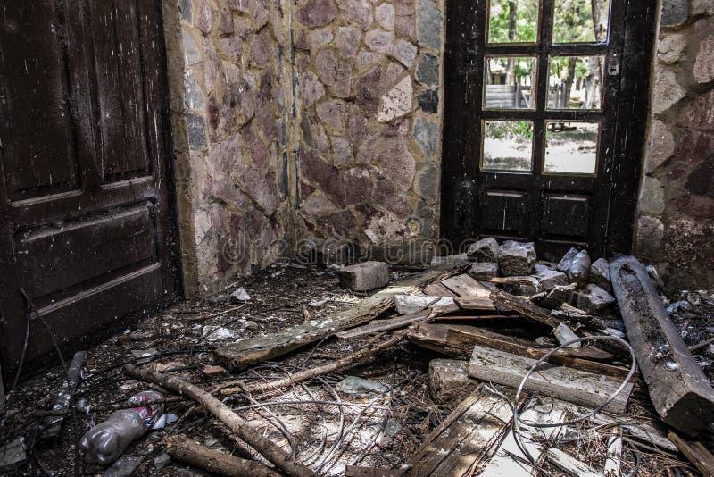 Bâtiment d'Abnadoned dans Campanopolis photos libres de droits