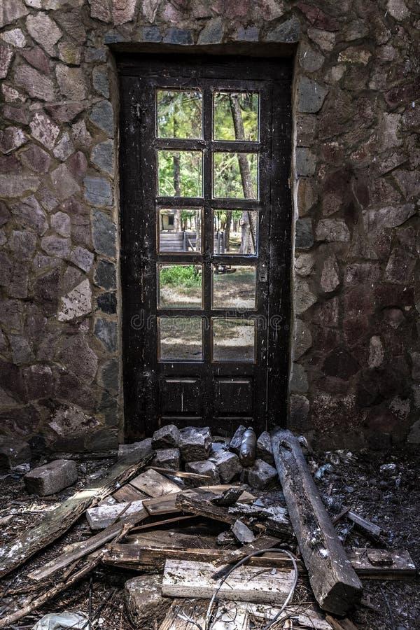 Bâtiment d'Abnadoned dans Campanopolis photographie stock