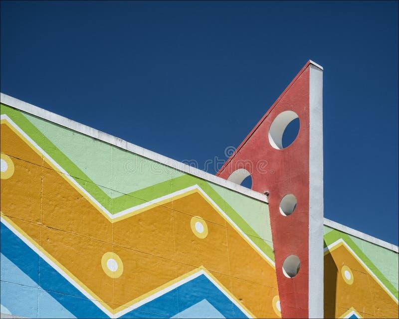 Bâtiment d'Art Deco image stock