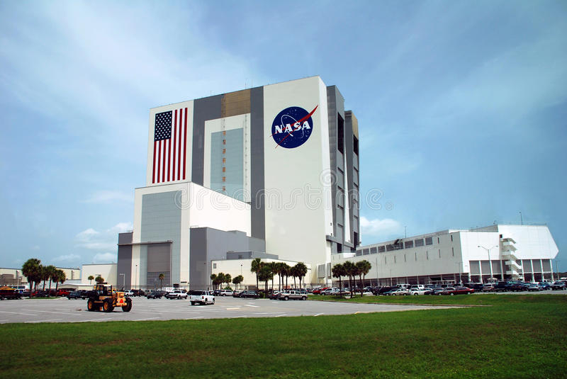 Bâtiment d'Assemblée de véhicule de la NASA photographie stock