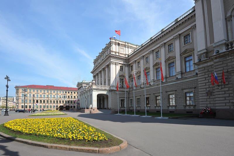 Bâtiment d'Assemblée législative au palais de Mariinsky à St Petersburg photographie stock libre de droits