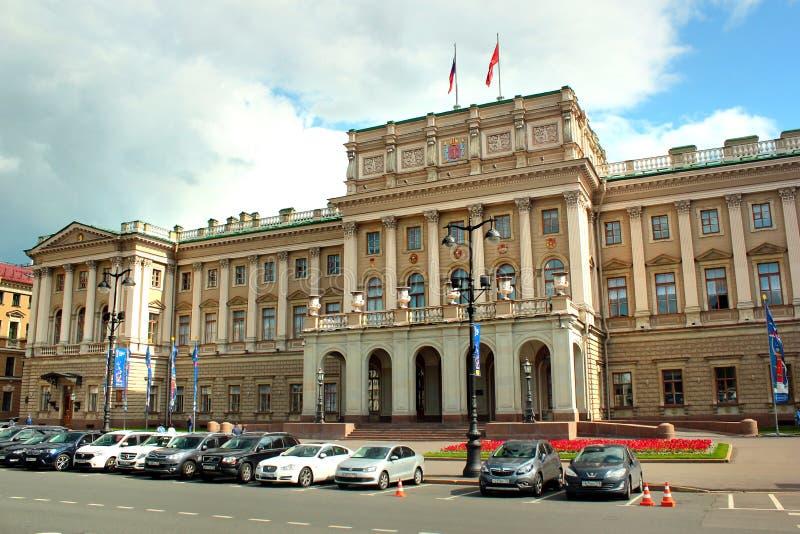 Bâtiment d'Assemblée législative de St Petersbourg dans le St Petersbourg, Russie photo stock