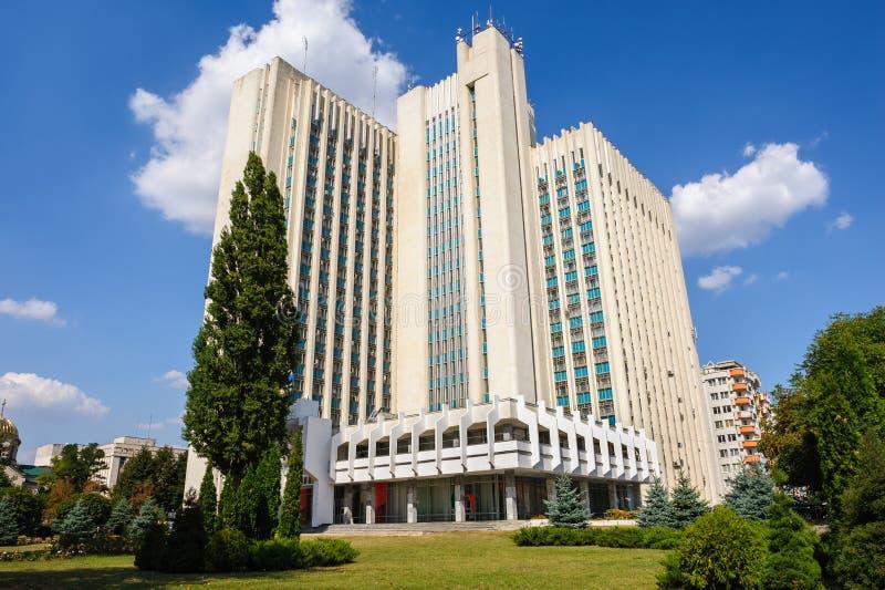 Bâtiment d'Authorithy à Chisinau, Moldau photographie stock libre de droits