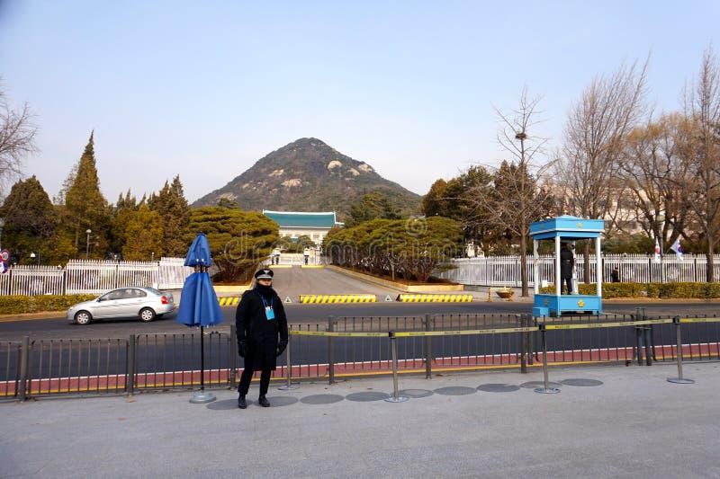 Bâtiment d'entrée de gouvernement à Séoul, Corée du Sud photos stock