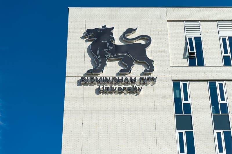 Bâtiment d'Université de la ville de Birmingham photo stock