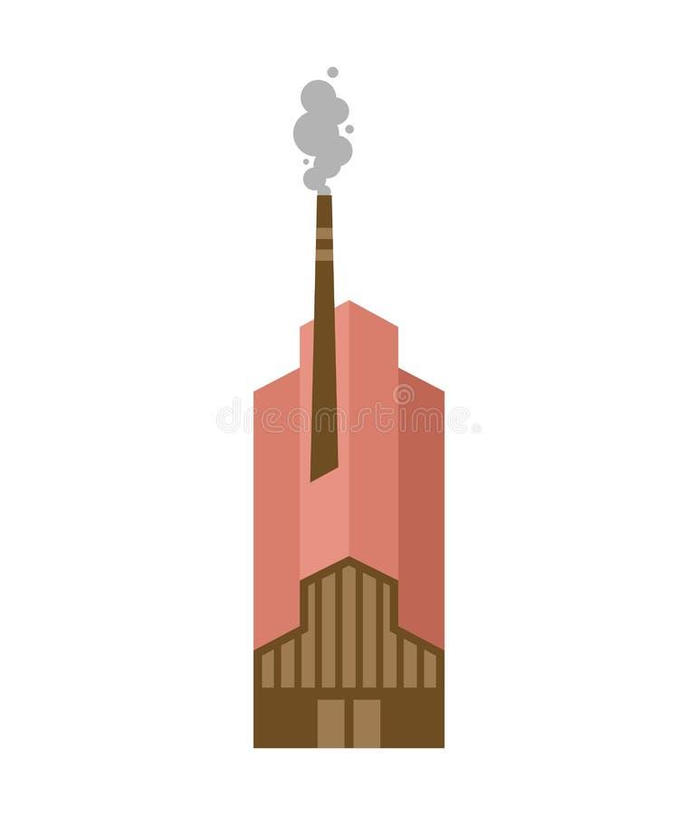 Bâtiment d'usine d'isolement Illustration de vecteur d'implantation industrielle illustration libre de droits