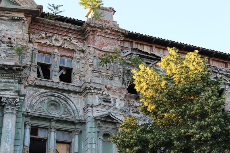 Bâtiment dans la ville d'Odessa avec la belle architecture images stock