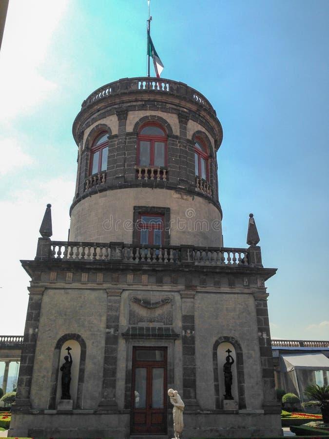 Bâtiment dans le jardin de château de Chapultepec photo stock