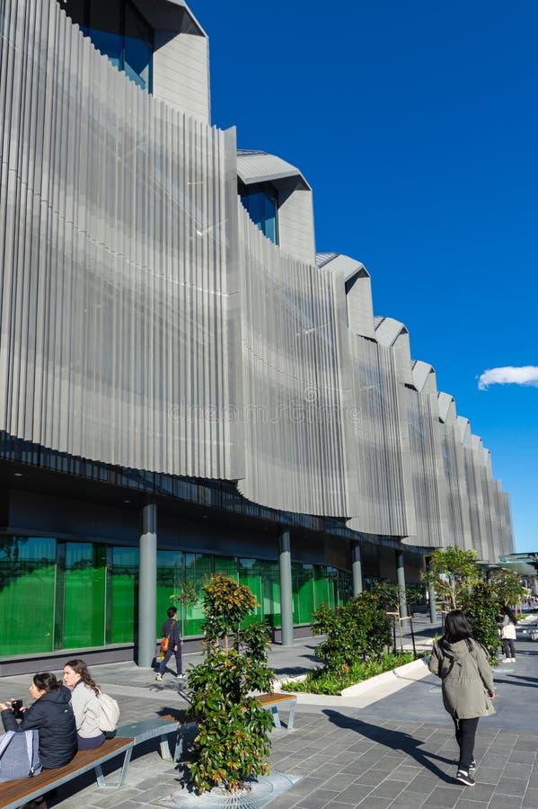 Bâtiment de étude et de enseignement du corps enseignant d'éducation sur le campus de Clayton d'université de Monash photographie stock libre de droits