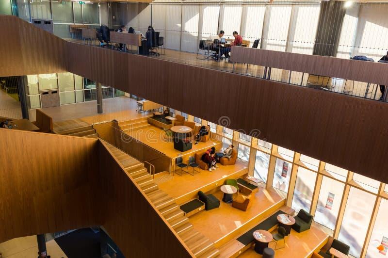 Bâtiment de étude et de enseignement du corps enseignant d'éducation sur le campus de Clayton d'université de Monash image libre de droits