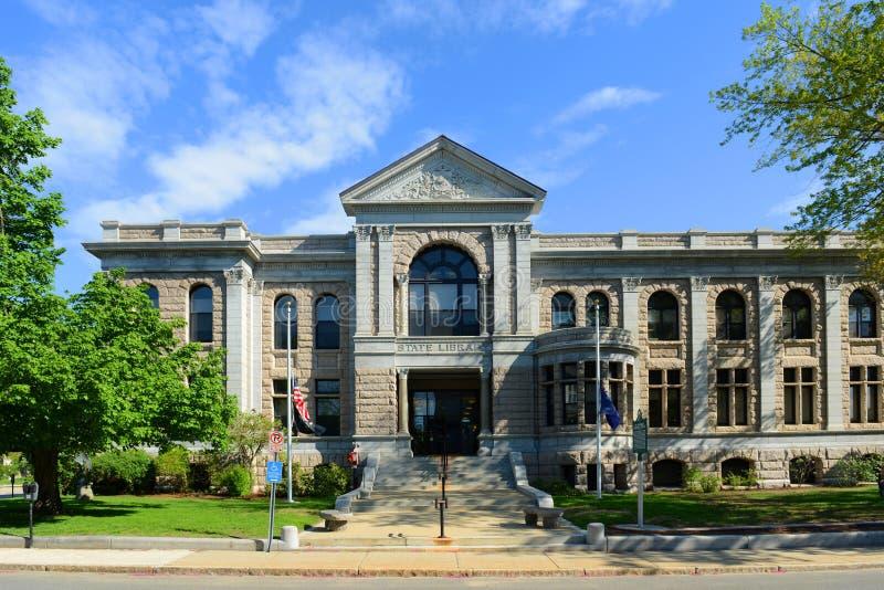 Bâtiment de bibliothèque d'état de New Hampshire, accord, Etats-Unis photo libre de droits