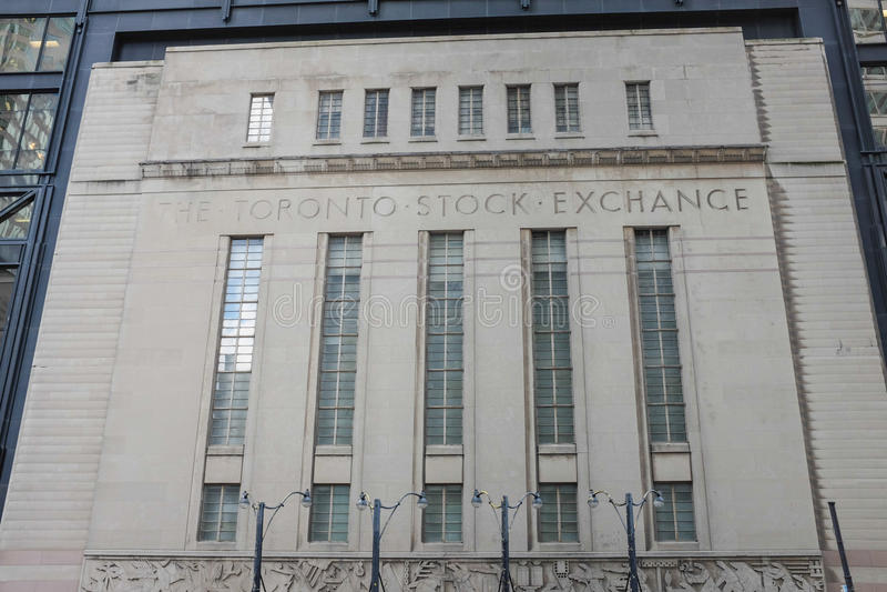 Bâtiment de bourse des valeurs de Toronto image stock