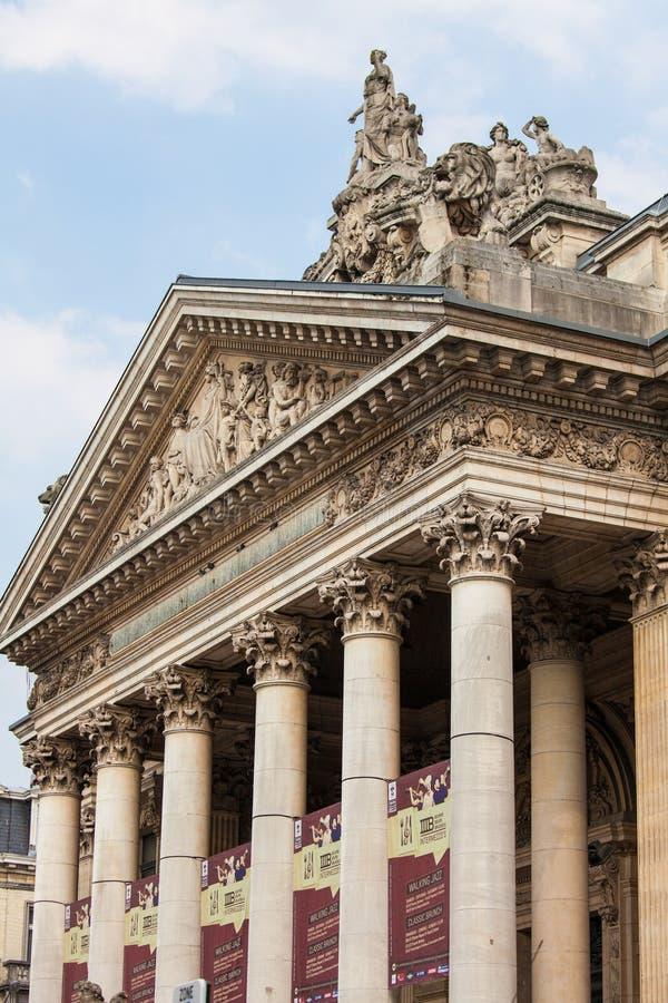 Bâtiment de bourse des valeurs ou de bourse à Bruxelles image stock