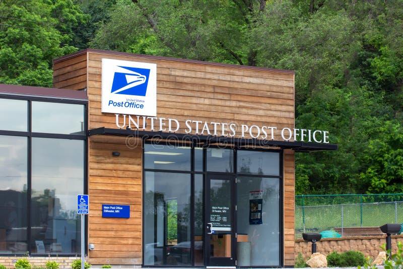 Bâtiment de bureau de poste des Etats-Unis photographie stock libre de droits