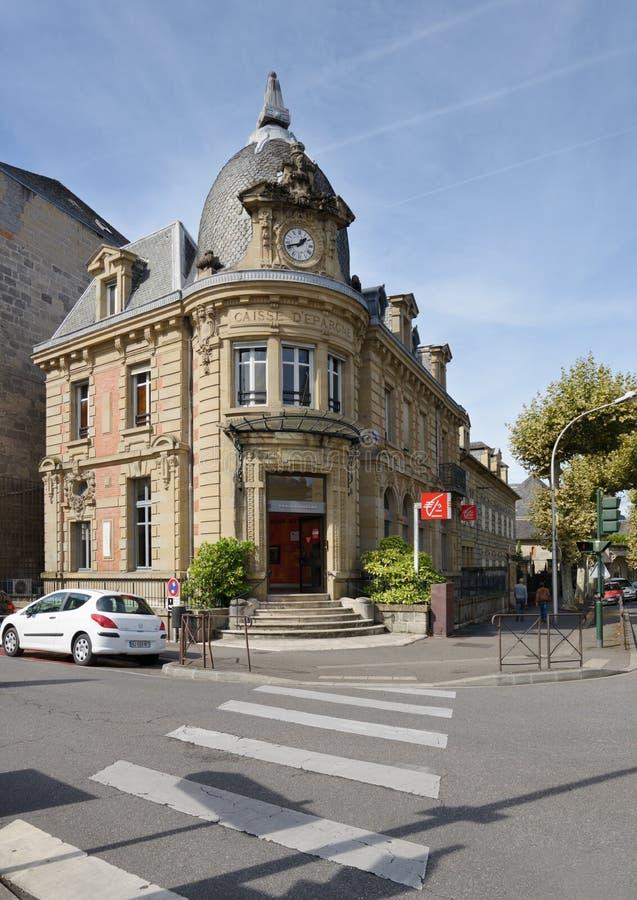 Bâtiment de Caisse d'Epargne dans Brive, France photographie stock libre de droits