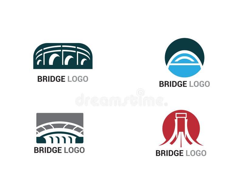 Bâtiment de calibre de vecteur de logo et de symbole de pont illustration libre de droits