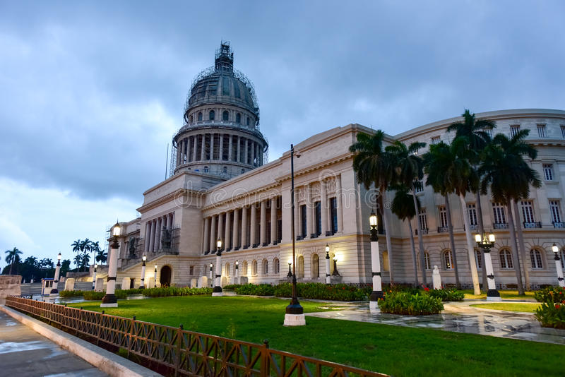 Bâtiment de capital national - La Havane, Cuba photo libre de droits