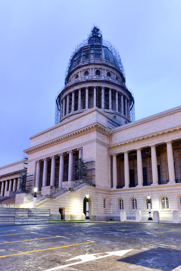 Bâtiment de capital national - La Havane, Cuba photo stock