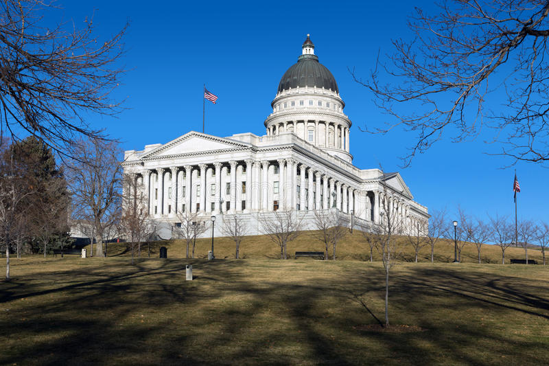 Bâtiment de capitol à Salt Lake City, Utah, Etats-Unis images libres de droits