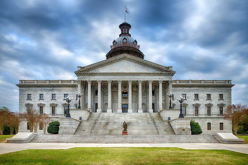 Bâtiment de capitol d'état de la Caroline du Sud image libre de droits