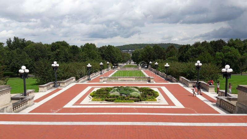 Bâtiment de capitol d'état du Kentucky frankfort Opérations rouges photographie stock libre de droits