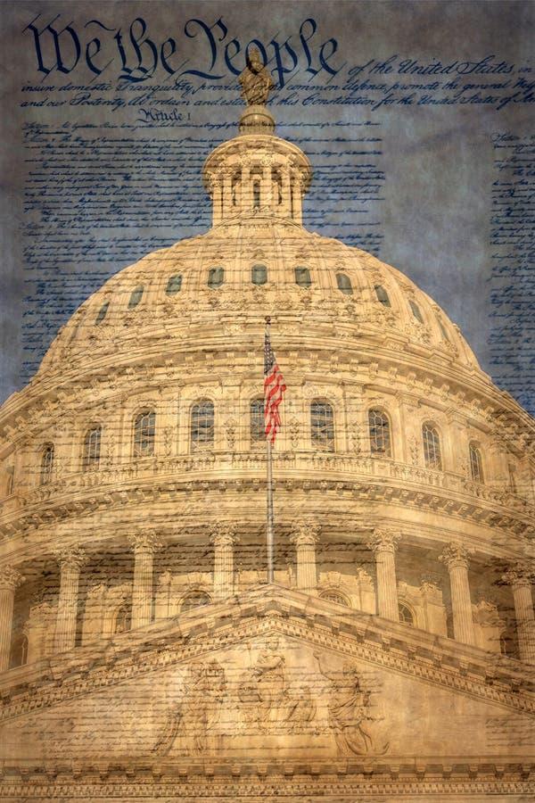 Bâtiment de capitol des Etats-Unis à Washington D C photographie stock libre de droits