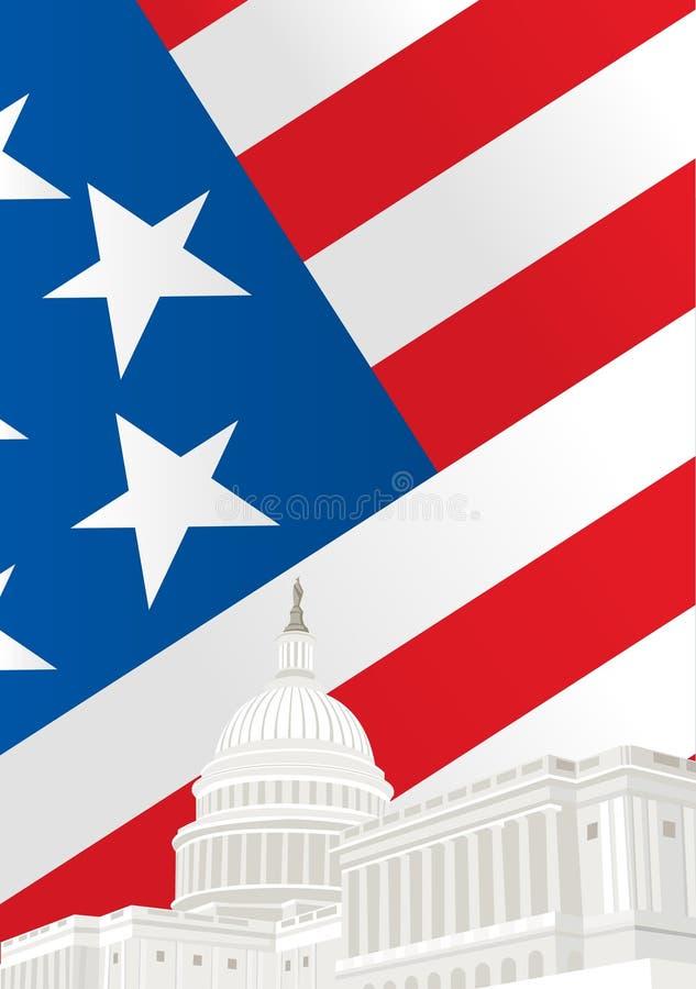 Bâtiment de capitol des Etats-Unis dans le Washington DC illustration libre de droits