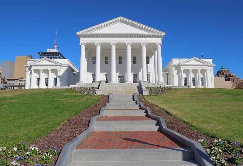Bâtiment de capitol de la Virginie à Richmond images stock