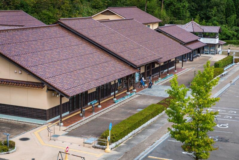 Bâtiment de centre de patrimoine mondial d'Iwami Ginzan images stock
