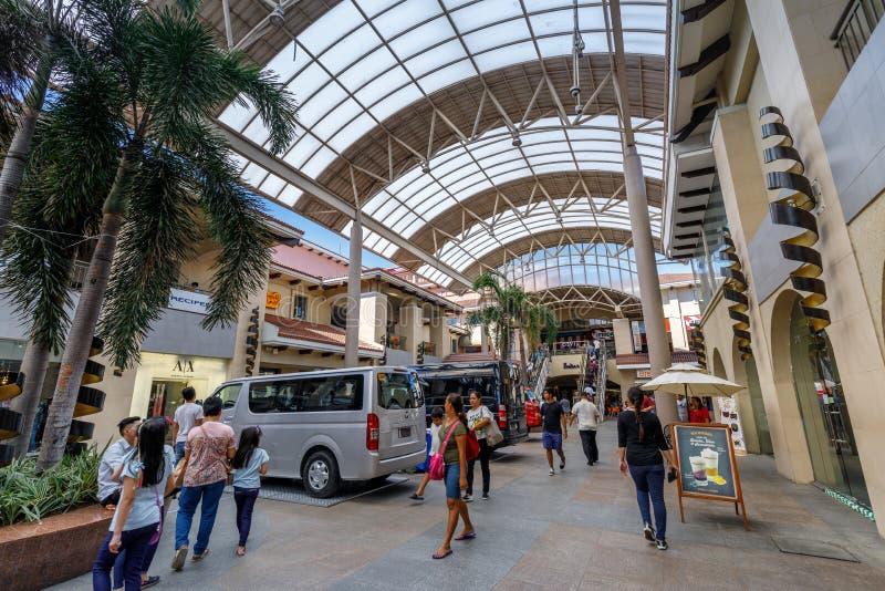 Bâtiment de centre de ville d'Alabang dans la ville de Manille images libres de droits