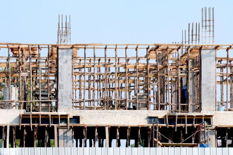 Bâtiment de chantier de construction, zone du projet à la maison d'architecture de construction, image de construction de Chambre image stock