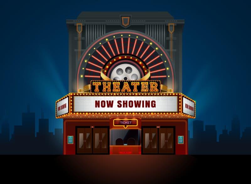 Bâtiment de cinéma de théâtre photo stock