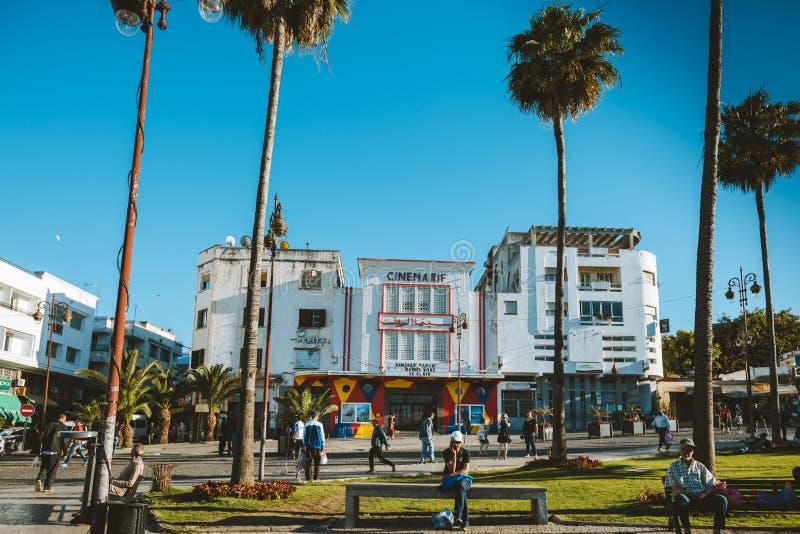 Bâtiment de Cinemarif à Tanger photographie stock libre de droits