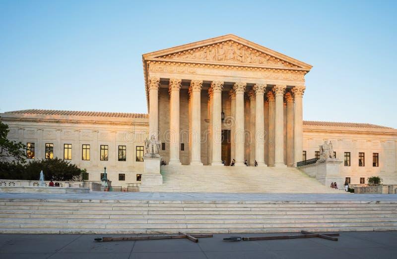 Bâtiment de court suprême des Etats-Unis à Washington USA photographie stock