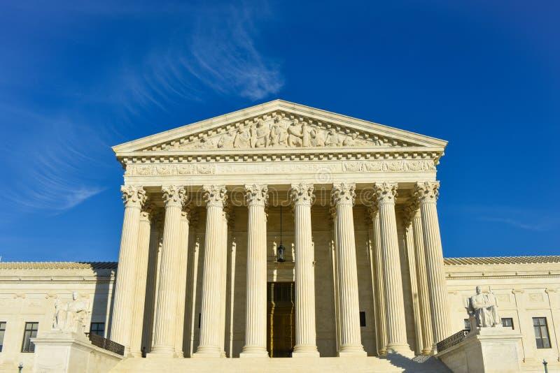Bâtiment de court suprême des Etats-Unis d'Amérique photographie stock