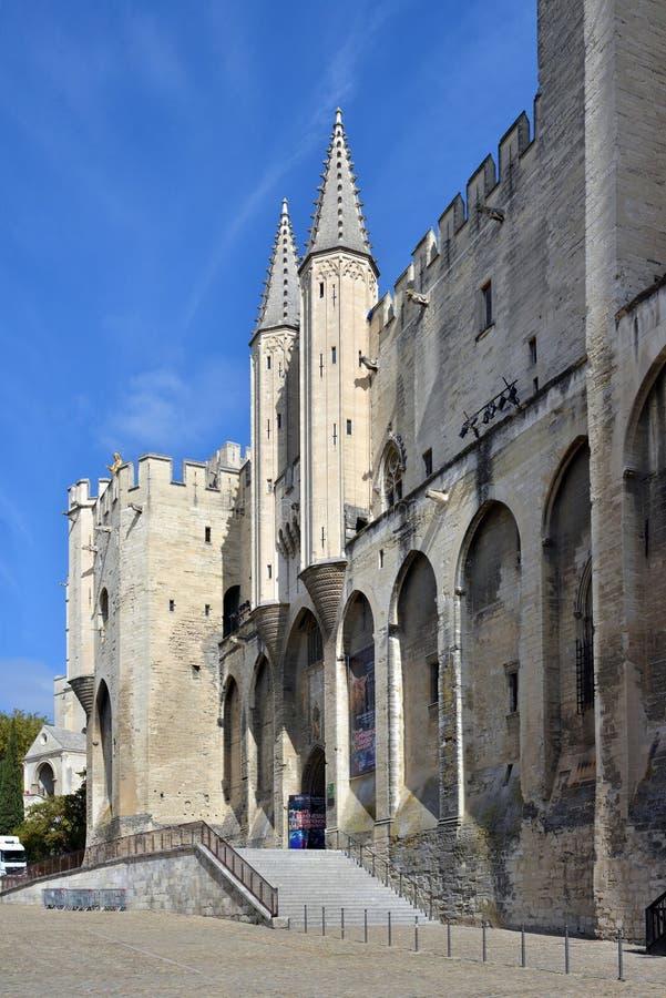 Bâtiment de DES Papes de Palais Frances à Avignon, Provence image libre de droits